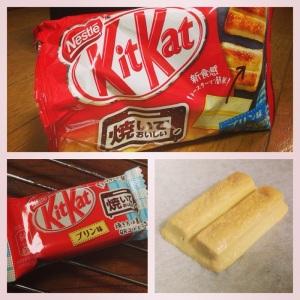 The pudding-flavoured bakeable Kit Kats that I tried!